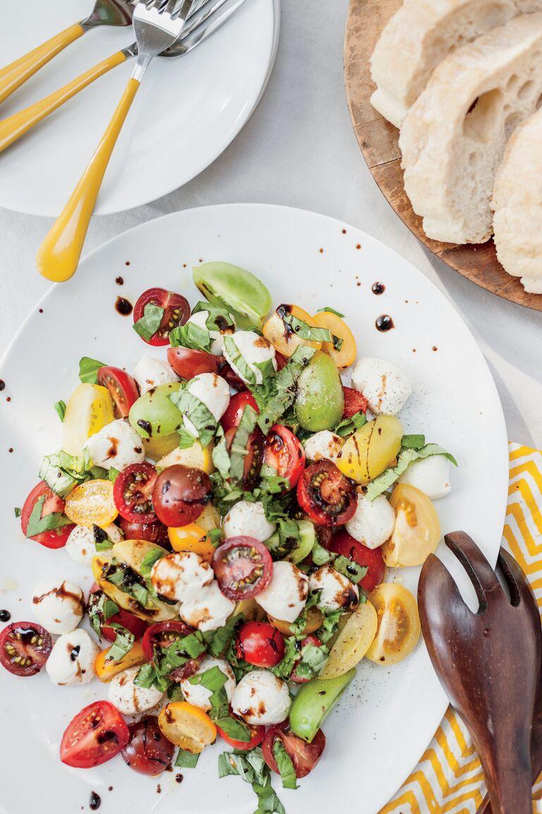 Mediterranean diet fresh tomato salad
