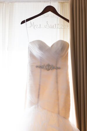 Elle's Strapless Wedding Dress on the Hanger