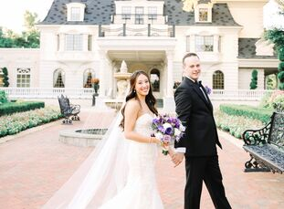 Classy and elegant with whimsy is how Anne Lin (36 and in finance) and Michael Treadow (30 and in finance) describe their wedding at the Ashford Estat
