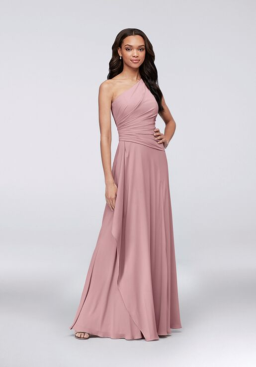 f66bc660f35 David s Bridal Collection David s Bridal Style F19832 One Shoulder  Bridesmaid Dress