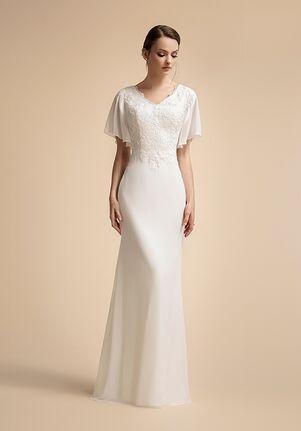 Moonlight Modesty M5025 Mermaid Wedding Dress
