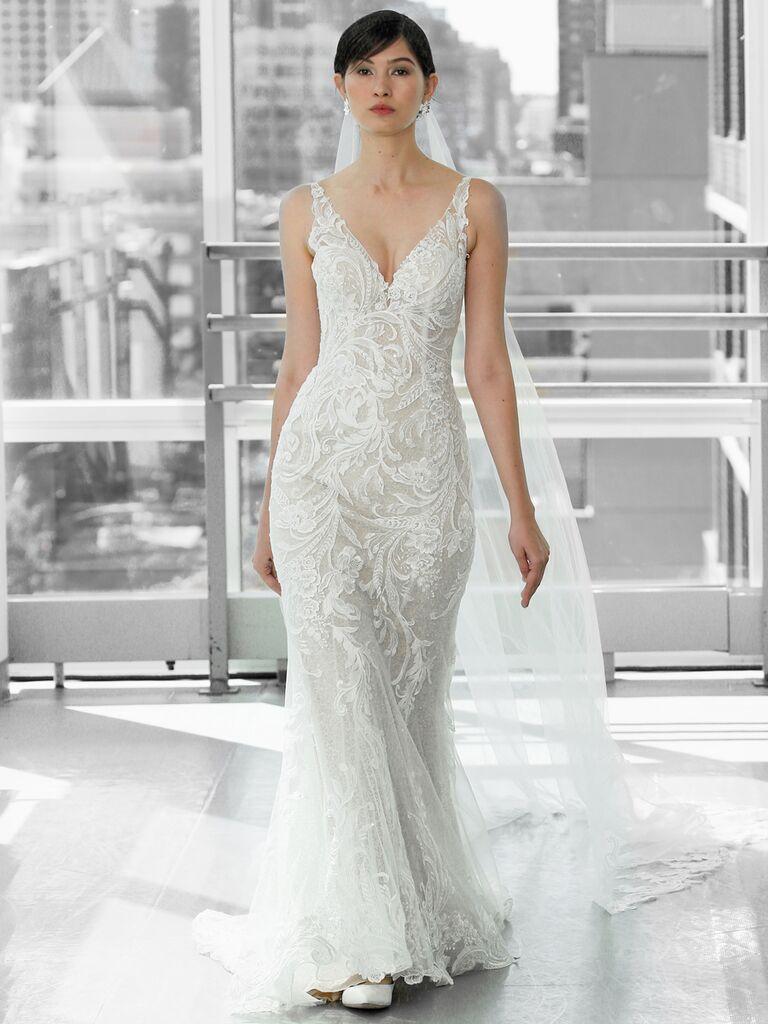 Justin Alexander Signature Wedding Dresses v-neck trumpet