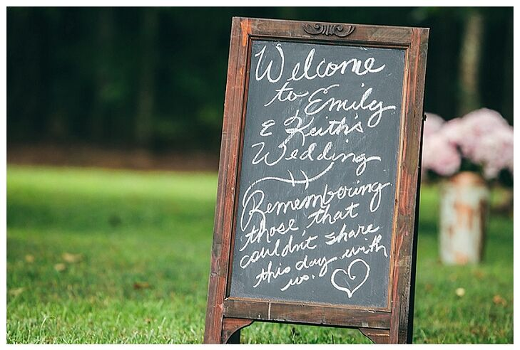 Rustic Chalkboard Ceremony Sign