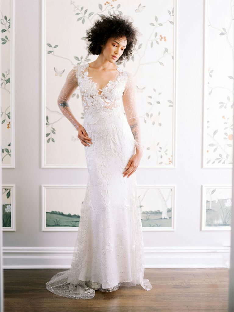 claire pettibone wedding dress lace a-line gown