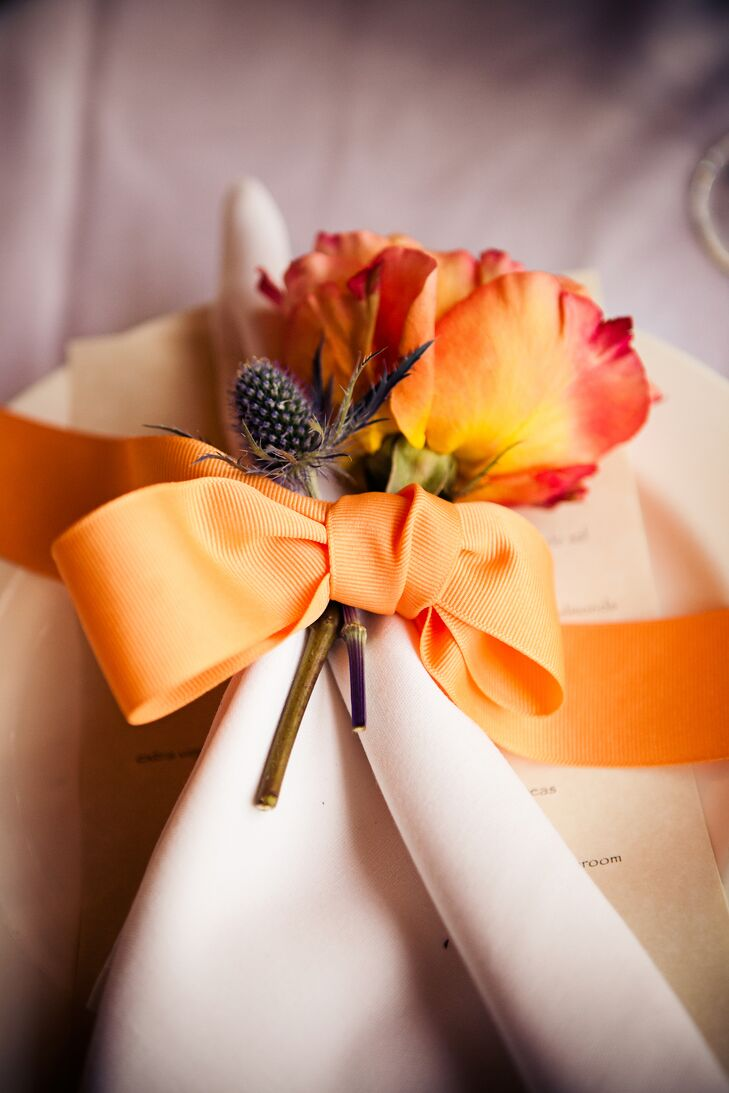Flower Decorated Place Settings