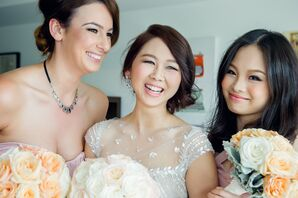 Cindy and Bridesmaids Getting Ready