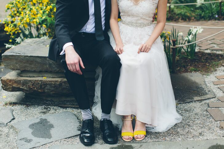 Bright Yellow Bridal Sandals