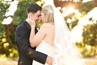Kelly Paris (27 and a digital marketer) and Ryan Woodward's (27 and a product marketer) rustic, elegant theme for their wedding was born from Kelly's