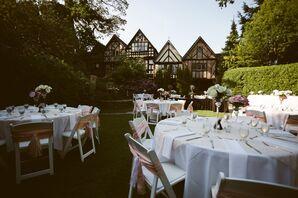 Outdoor Garden Reception at the English Inn