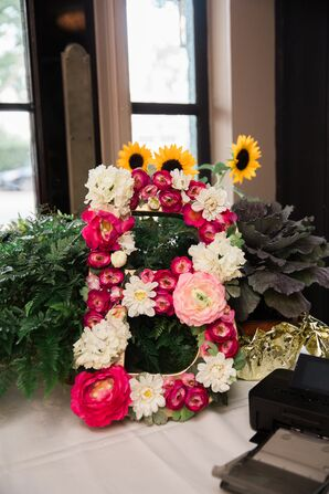 Oversize Floral Initial Decoration