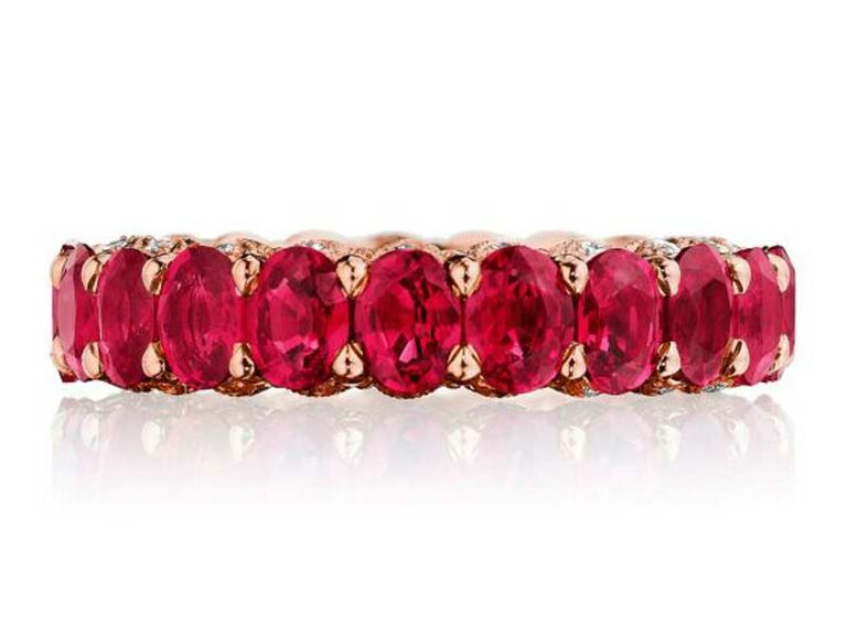 Eternity band with ruby stones