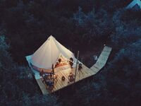 glamping bachelorette party