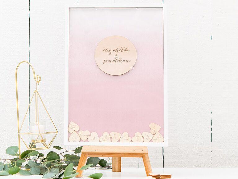 Alternative bridal shower guest book idea framed drop box