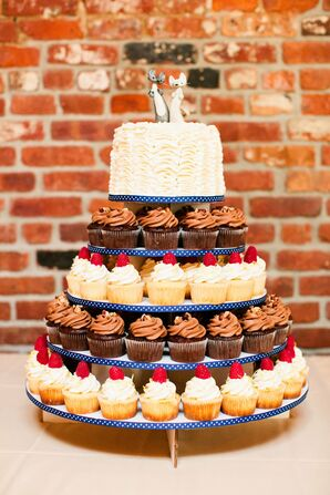 Whimsical Cupcake Cake