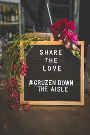 Wedding Hashtag Letterboard