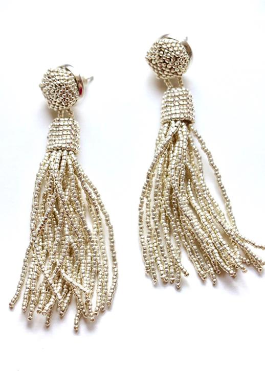 Molly Jane Designs Silver Tassel Earrings
