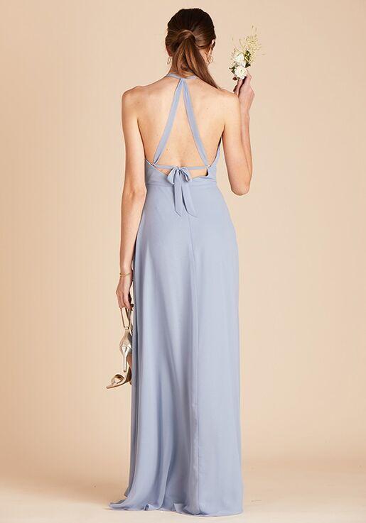 Birdy Grey Moni Convertible Dress in Dusty Blue Halter Bridesmaid Dress