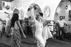 Bohemian Bride Dancing at Reception