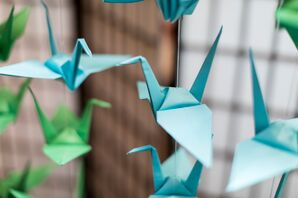 Hanging Hand-Folded Origami Cranes
