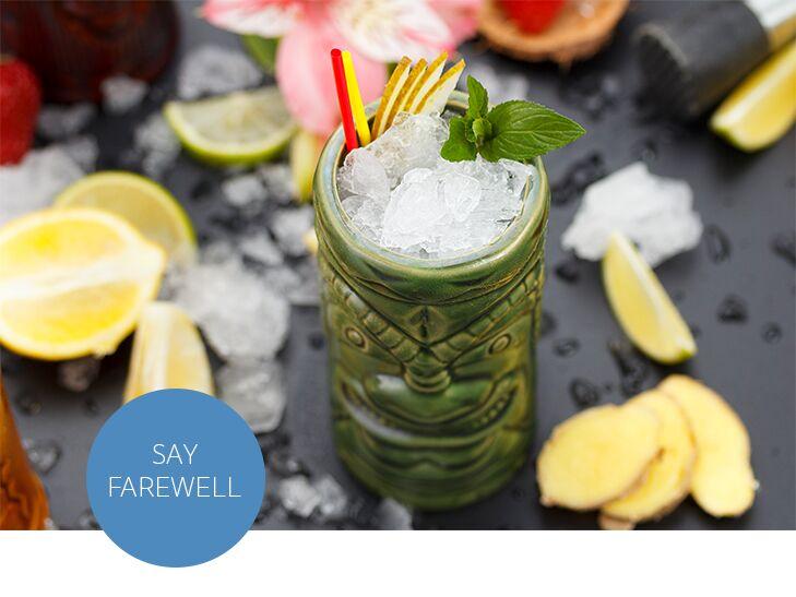tropical tiki drink