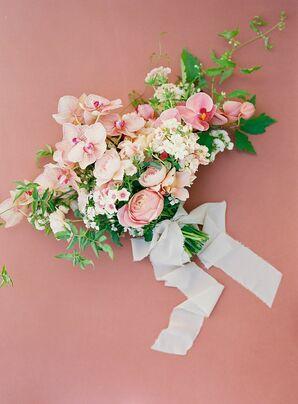 Vibrant Orchid Wedding Bouquet at The Inn at Rancho Santa Fe in California