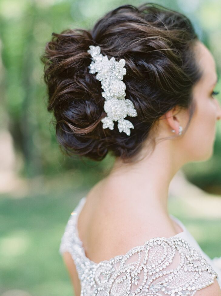 Glam Hair Pin Complementing Wedding Dress Beading