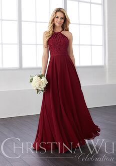 Christina Wu 22820 Halter Bridesmaid Dress