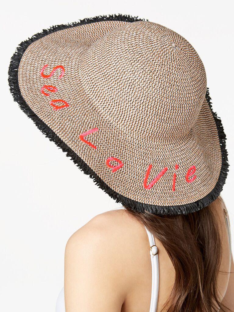 INC International Concepts Sea La Vie fringe floppy hat