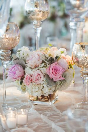 Pastel Rose and Peony Floral Arrangement