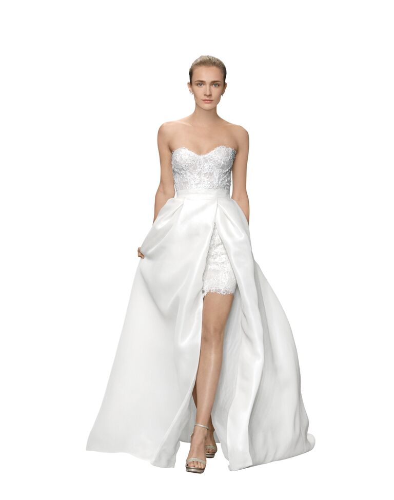 Two-in-one wedding dresses