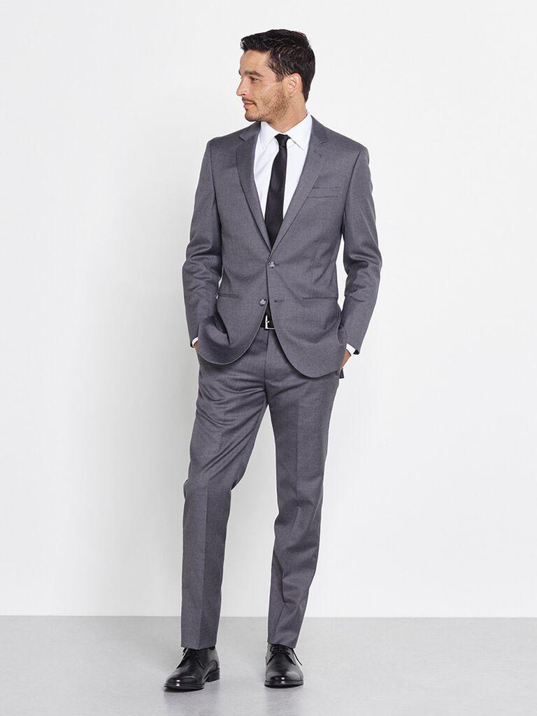 gray slim fit tuxedo