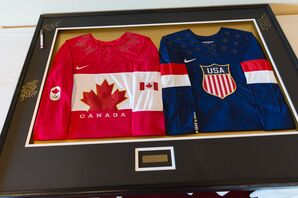 A Framed Hockey Jersey Guest Book