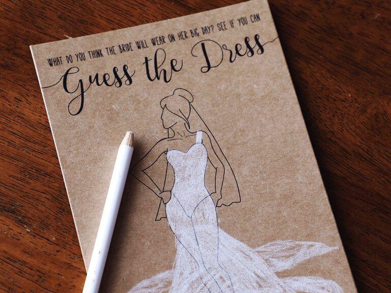 Printable bridal shower game