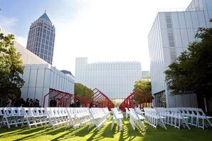 High Museum of Art Outdoor Wedding Ceremony