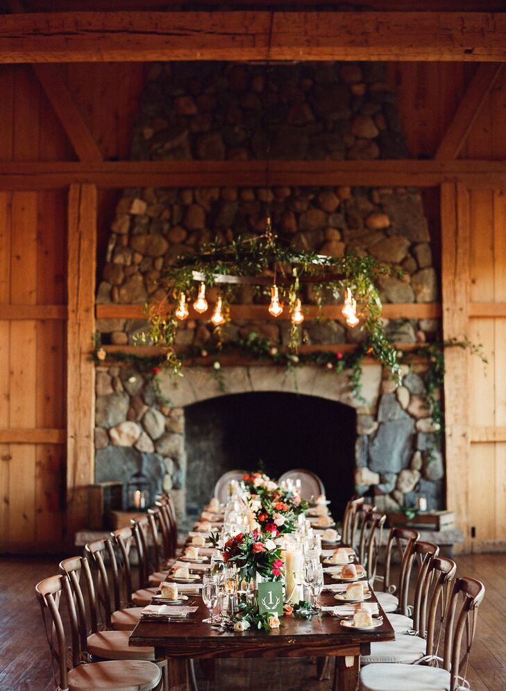 Guests were able to dine together at expansive farm tables at Devil's Thumb Ranch Resort & Spa in Tabernash, Colorado.