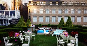 Whimsical Rooftop Reception