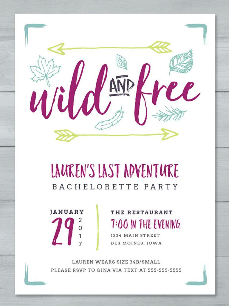 graphic regarding Free Printable Bachelorette Party Invitations named 14 Printable Bachelorette Bash Invitation Templates