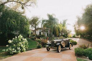 Vintage Getaway Car for Wedding in Granite Bay, California