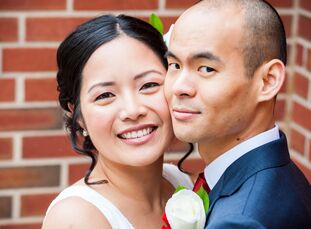 "Ann Lam (a violinist) and Aaron Huang (a doctor) met one evening at a gathering of mutual friends at a local Chinese restaurant. ""I was one of the las"