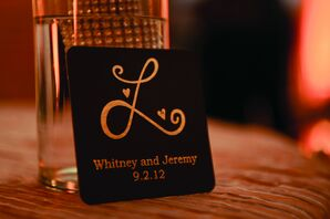 Gold Monogrammed Coasters