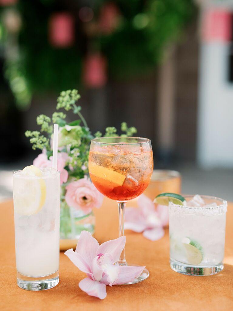wedding drink ideas signature cocktails