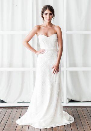 KAREN WILLIS HOLMES Ava Sheath Wedding Dress