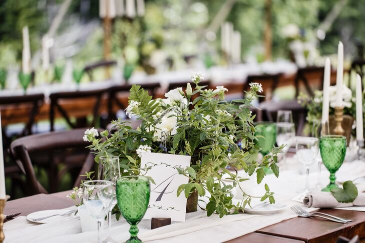 Rustic Wildflower and Greenery Centerpieces