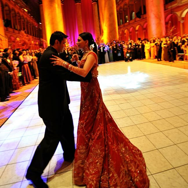 All eyes were on Dolci and Sunny as they glided across the ballroom floor to Frankie Valli's Can't Take My Eyes Off Of You, a show-stopping tune that worked in the grand space.