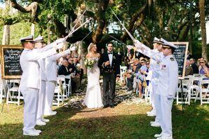 Military Sword Arch Wedding Exit