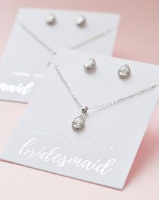 USABride Emma CZ Bridesmaid Pendant Set (JS-1673-BR) Wedding Necklace photo