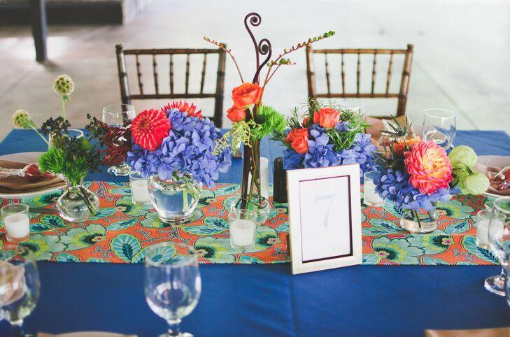Bright Blue Table Decor