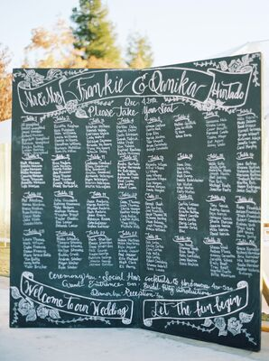 Handwritten Chalkboard Seating Map