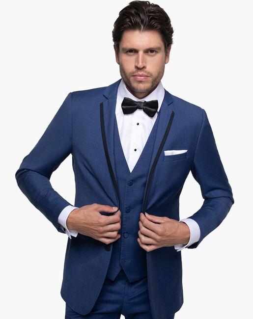 Generation Tux Mystic Blue Edge Lapel Suit Blue Tuxedo