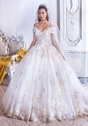 Platinum by Demetrios DP383 - Celine Ball Gown Wedding Dress